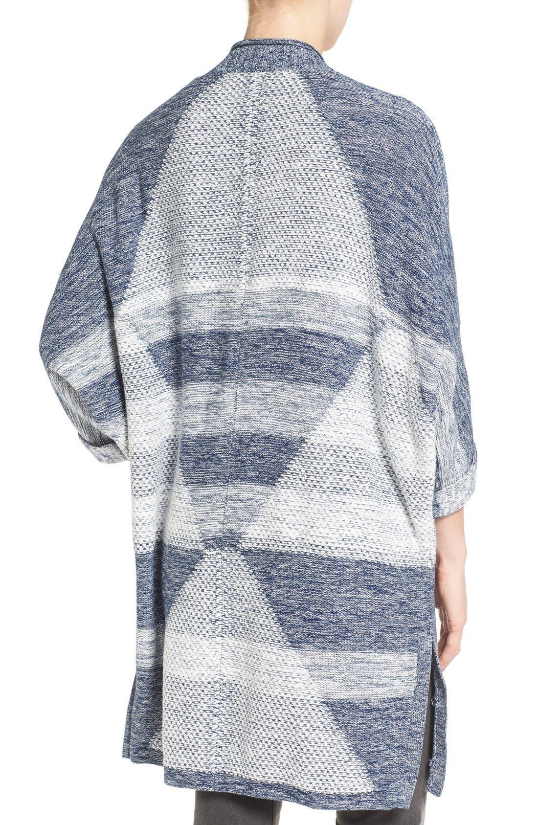 Alternate Image 2  - Caslon® Cuffed Sleeve Long Cardigan