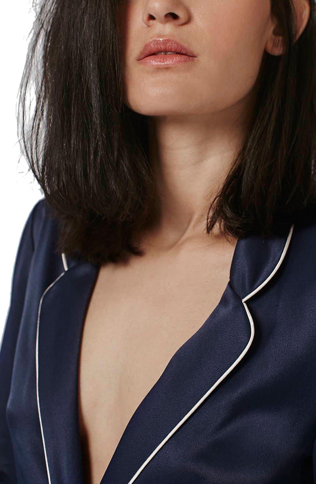 Alternate Image 5  - Topshop Satin Pajama Style Jacket