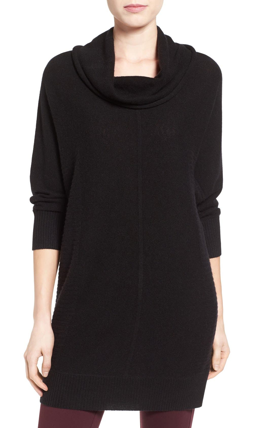 Halogen® Cashmere Dolman Sleeve Tunic Sweater