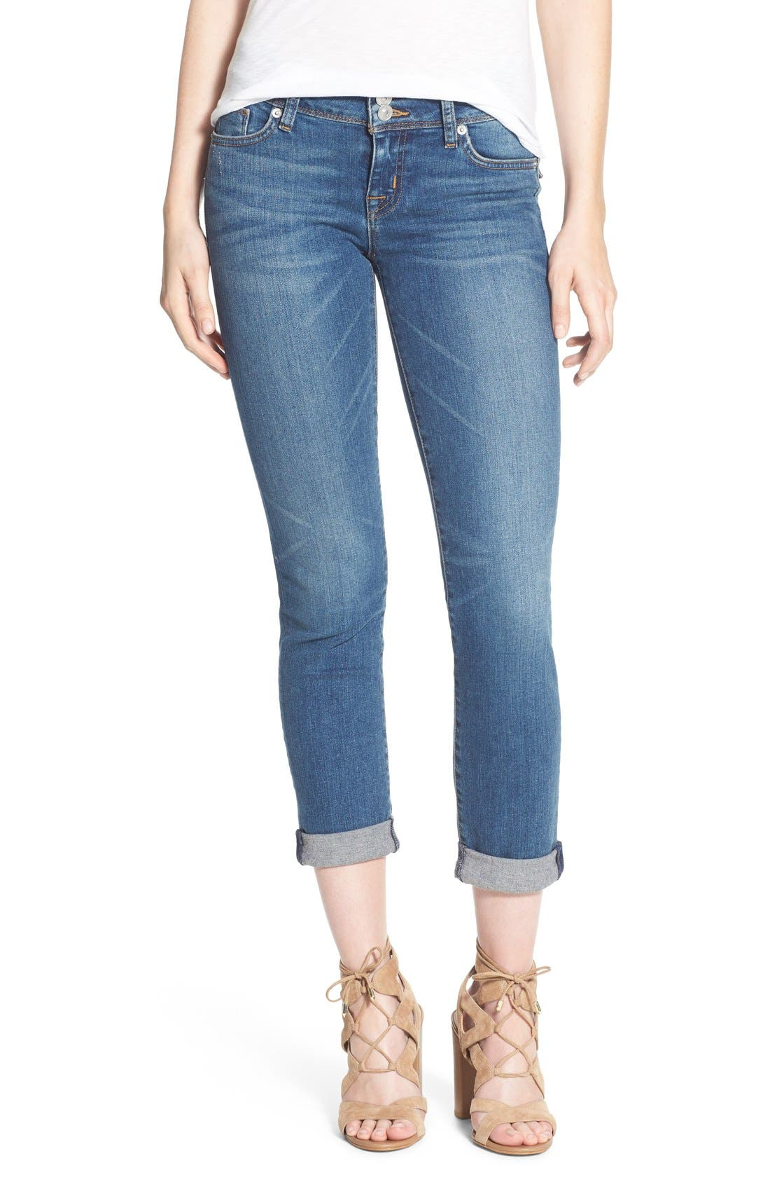 Main Image - Hudson Jeans 'Ginny' Rolled Crop Jeans (Point Break)