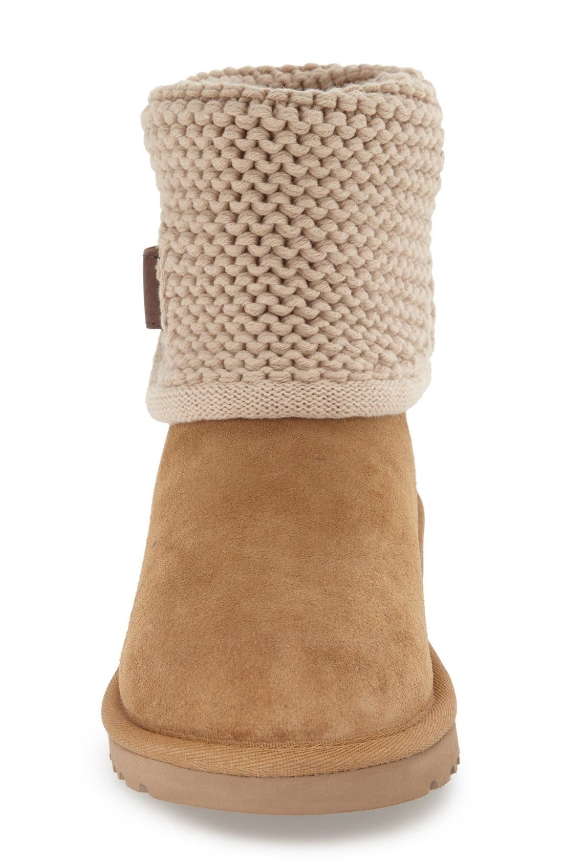 Alternate Image 3  - UGG® Shaina Knit Cuff Bootie (Women)