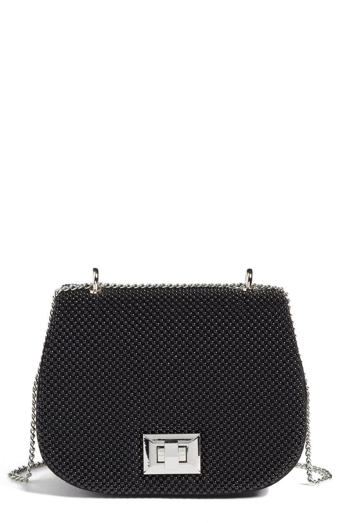 Whiting & Davis Bubble Mesh Saddle Bag