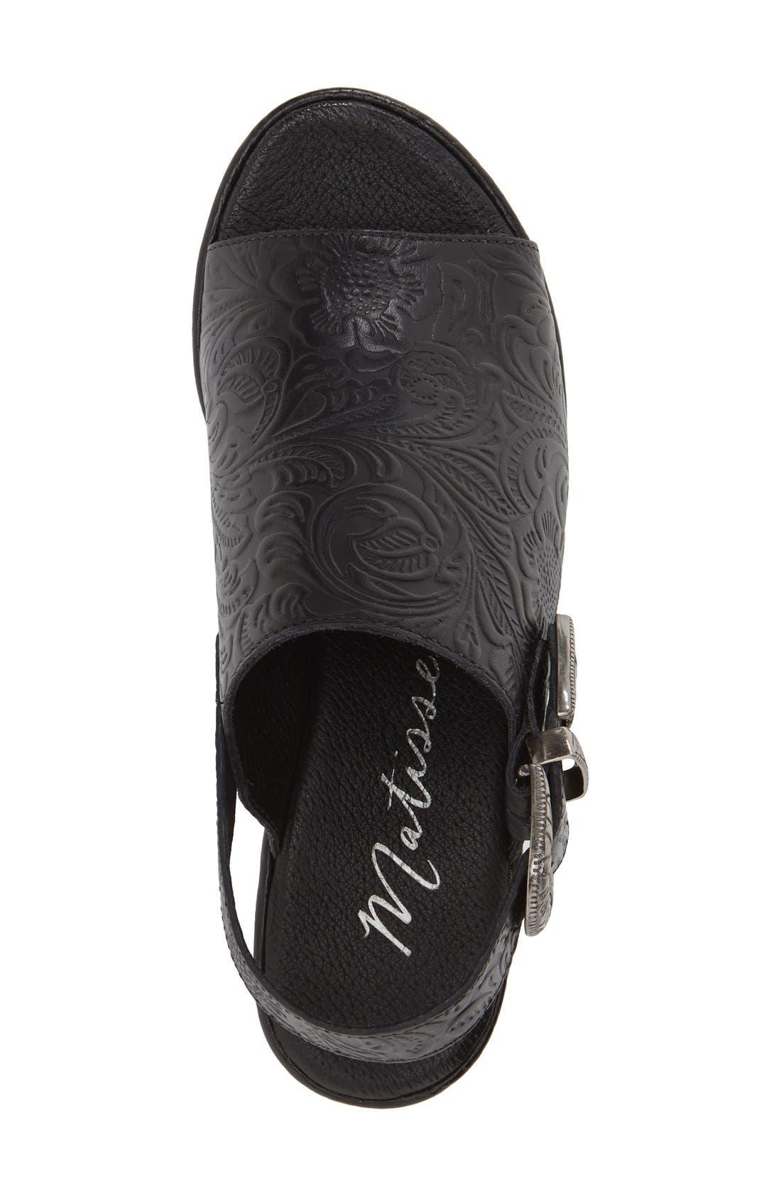 Alternate Image 3  - Matisse Embossed Slingback Platform Sandal (Women)