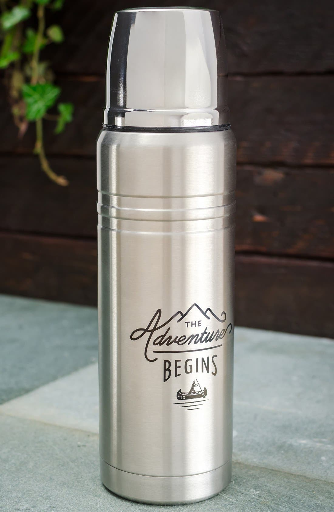 Alternate Image 4  - Wild and Wolf 'The Adventure Begins' Stainless Steel Vacuum Flask