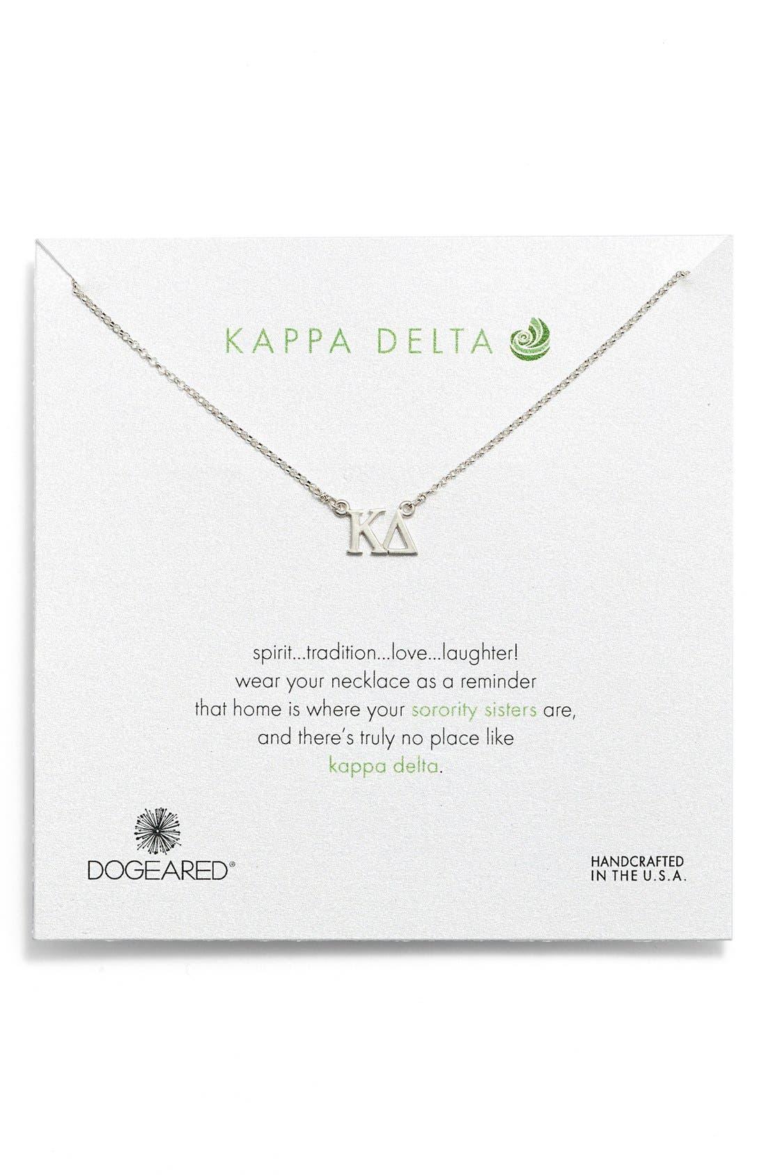 Dogeared 'Kappa Delta' Pendant Necklace