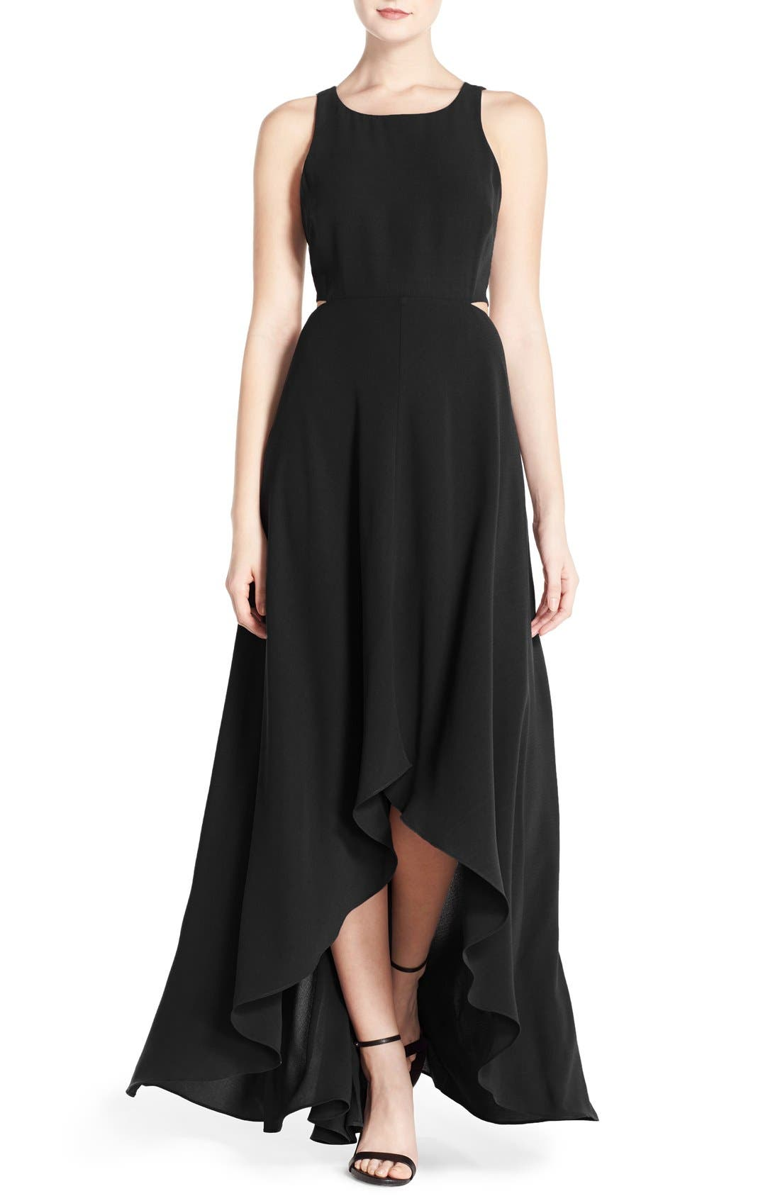 Alternate Image 1 Selected - Ali & Jay Cutout Back Crepe Maxi Dress