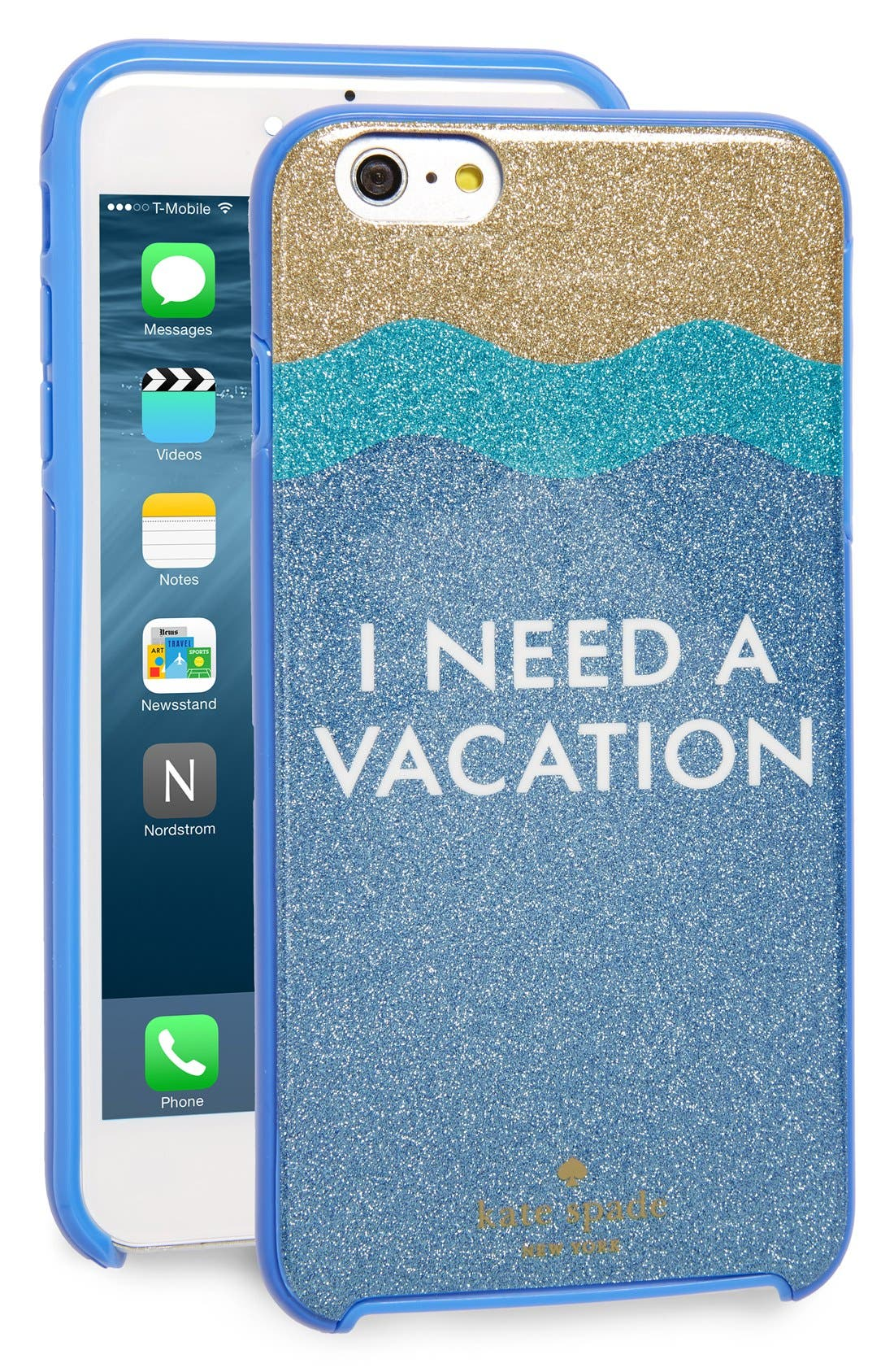 Alternate Image 1 Selected - kate spade new york 'i need a vacation' iPhone 6 Plus & 6s Plus