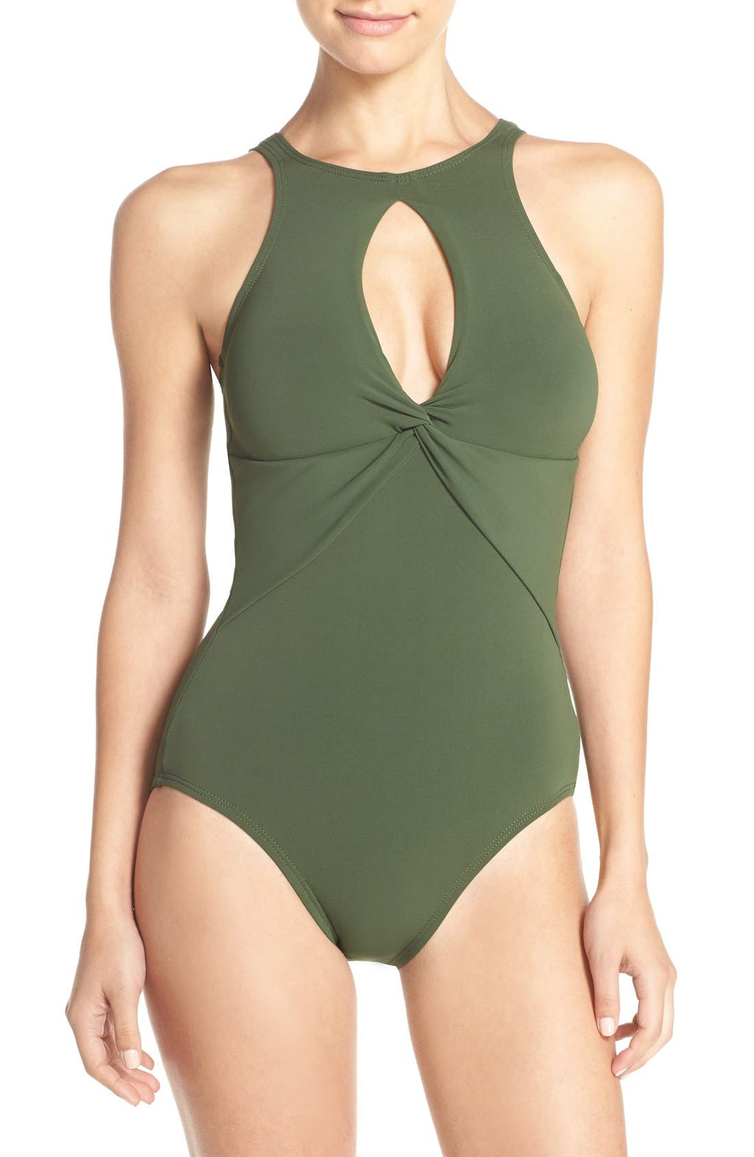 Alternate Image 1 Selected - Robin Piccone 'Ava' Keyhole One-Piece Swimsuit