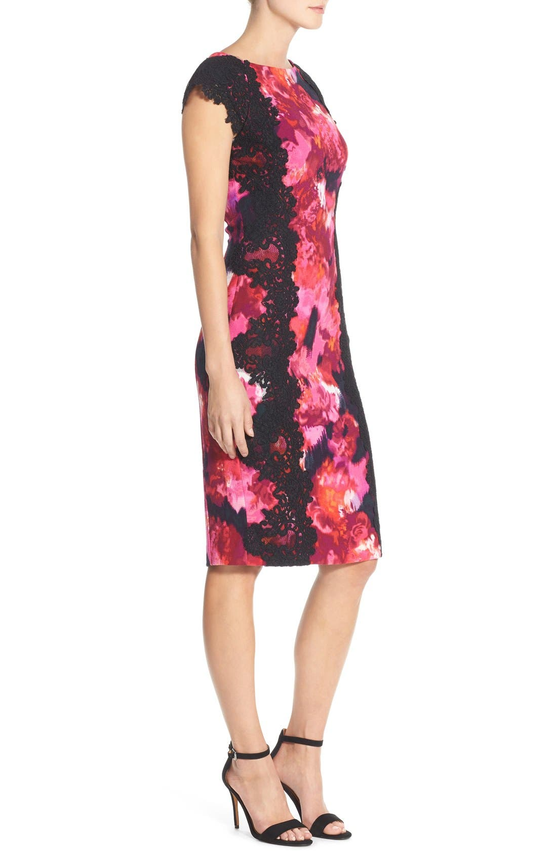 Alternate Image 3  - Maggy London Lace & Crepe Sheath Dress (Regular & Petite) (Nordstrom Exclusive)