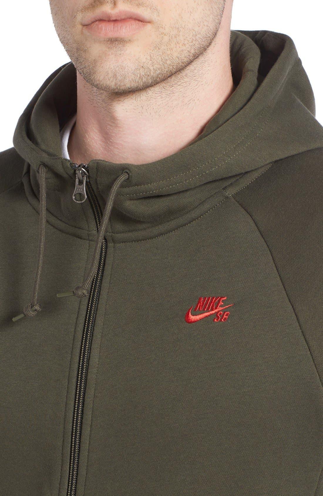 Alternate Image 4  - Nike SB 'Icon' Zip Hoodie