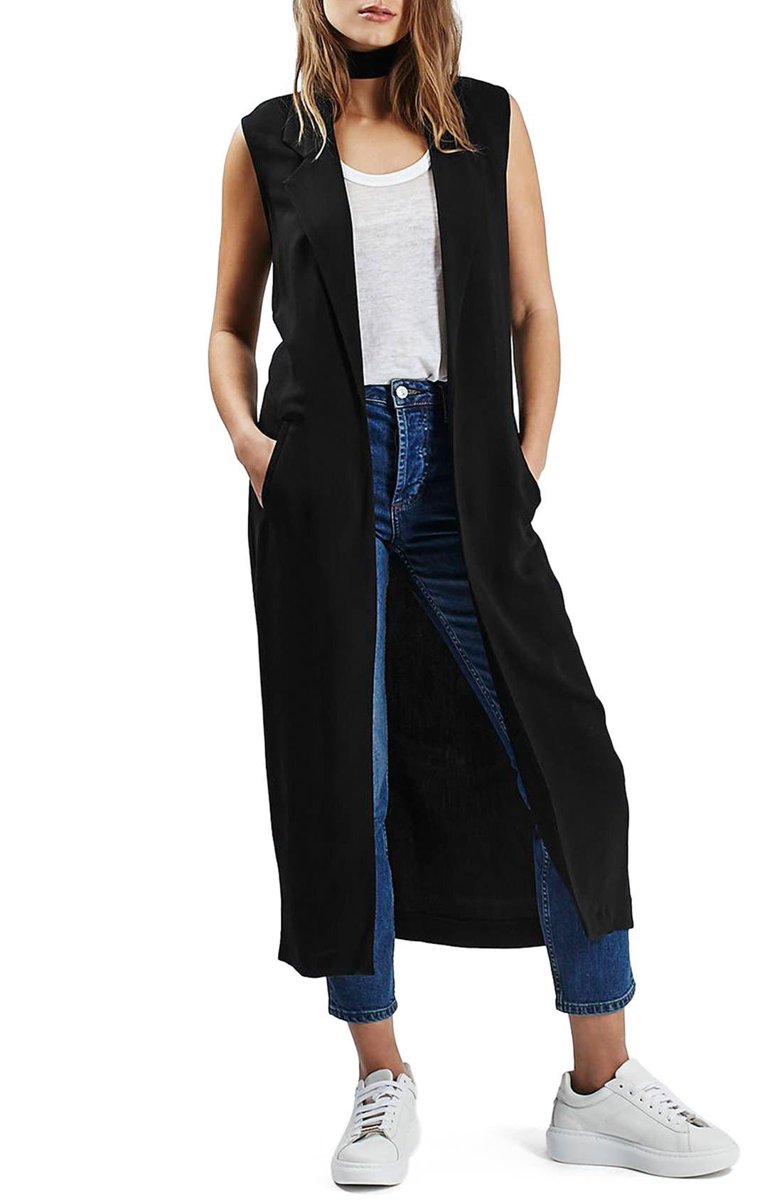 Main Image - Topshop Sleeveless Duster Coat