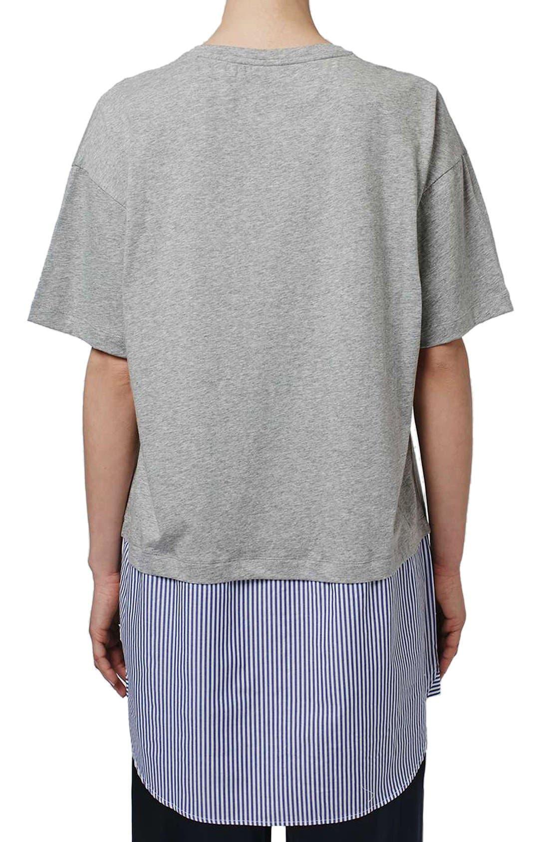 Alternate Image 3  - Topshop Boutique Stripe Shirt Hem T-Shirt Dress