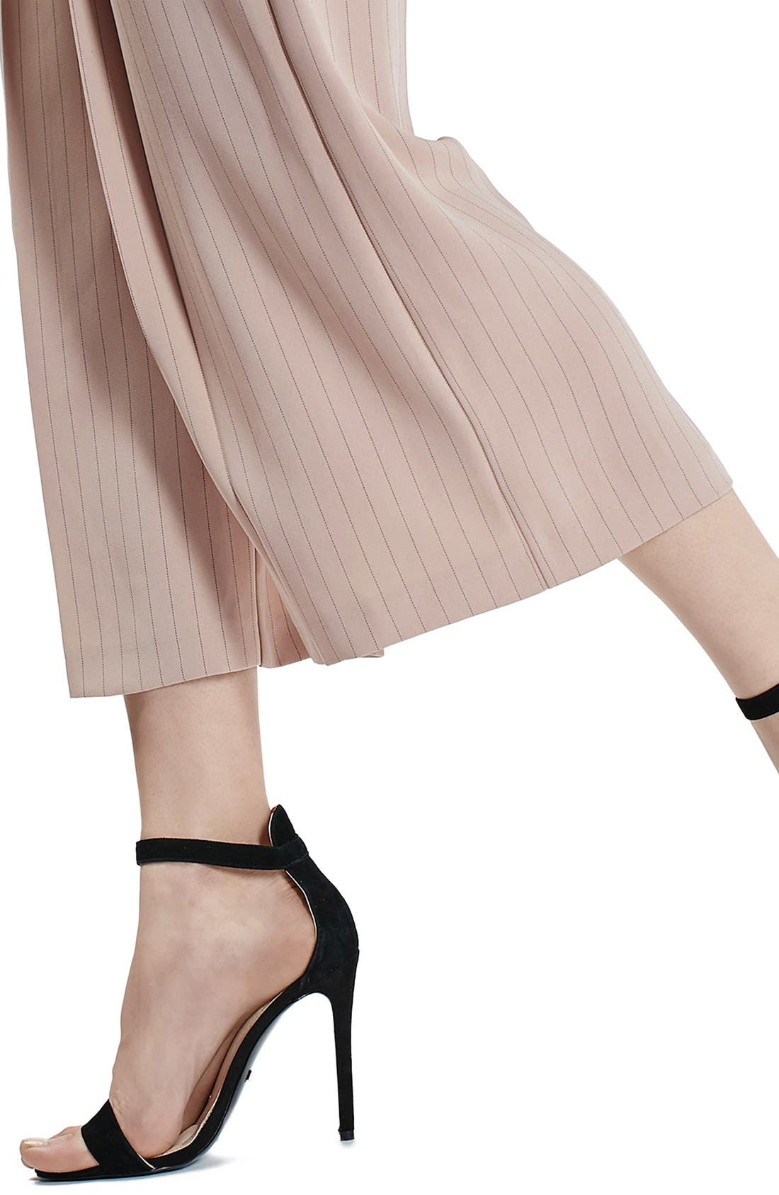 Alternate Image 4  - Topshop Pinstripe Wide Leg Crop Pants