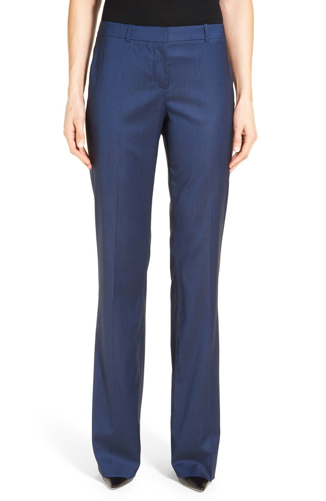 Alternate Image 1 Selected - BOSS 'Tulea' Stretch Wool Blend Suit Trousers