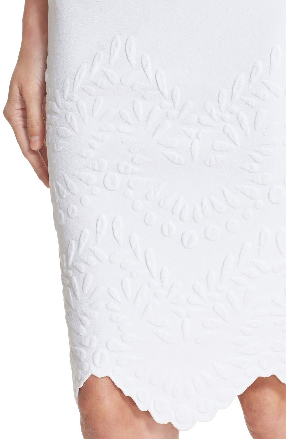 Alternate Image 6  - Alexander McQueen Embossed Jacquard Knit Pencil Skirt