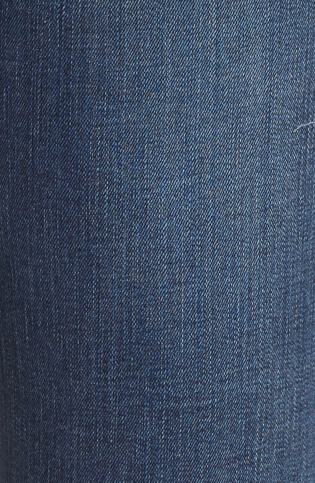 Alternate Image 5  - 7 For All Mankind® Destroyed Skinny Jeans (Dark Vintage Blue)