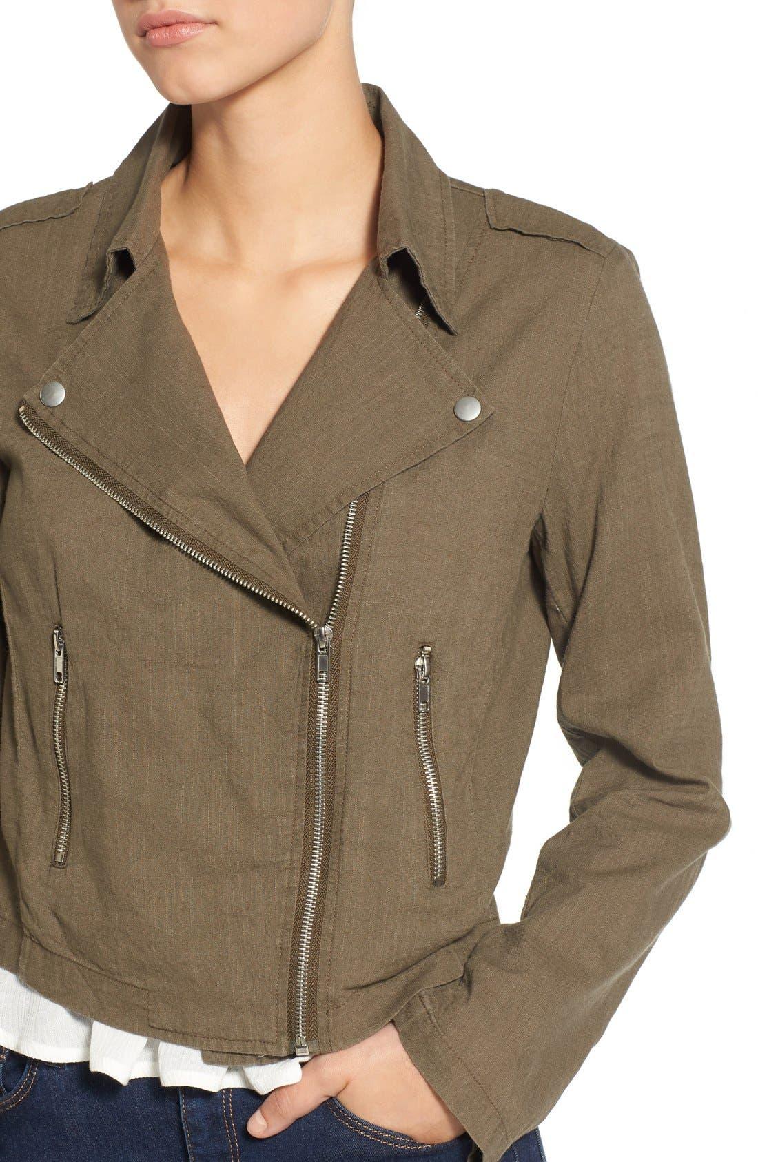 Alternate Image 4  - BP. Lightweight Cotton Moto Jacket