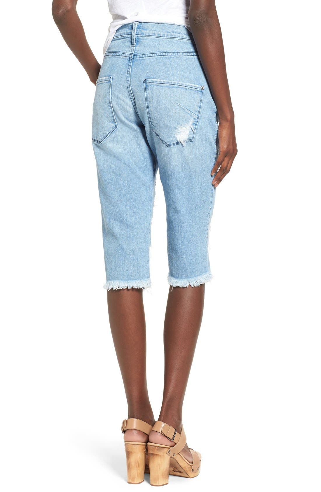 Alternate Image 2  - James Jeans Distressed Bermuda Shorts (Joy Ride)