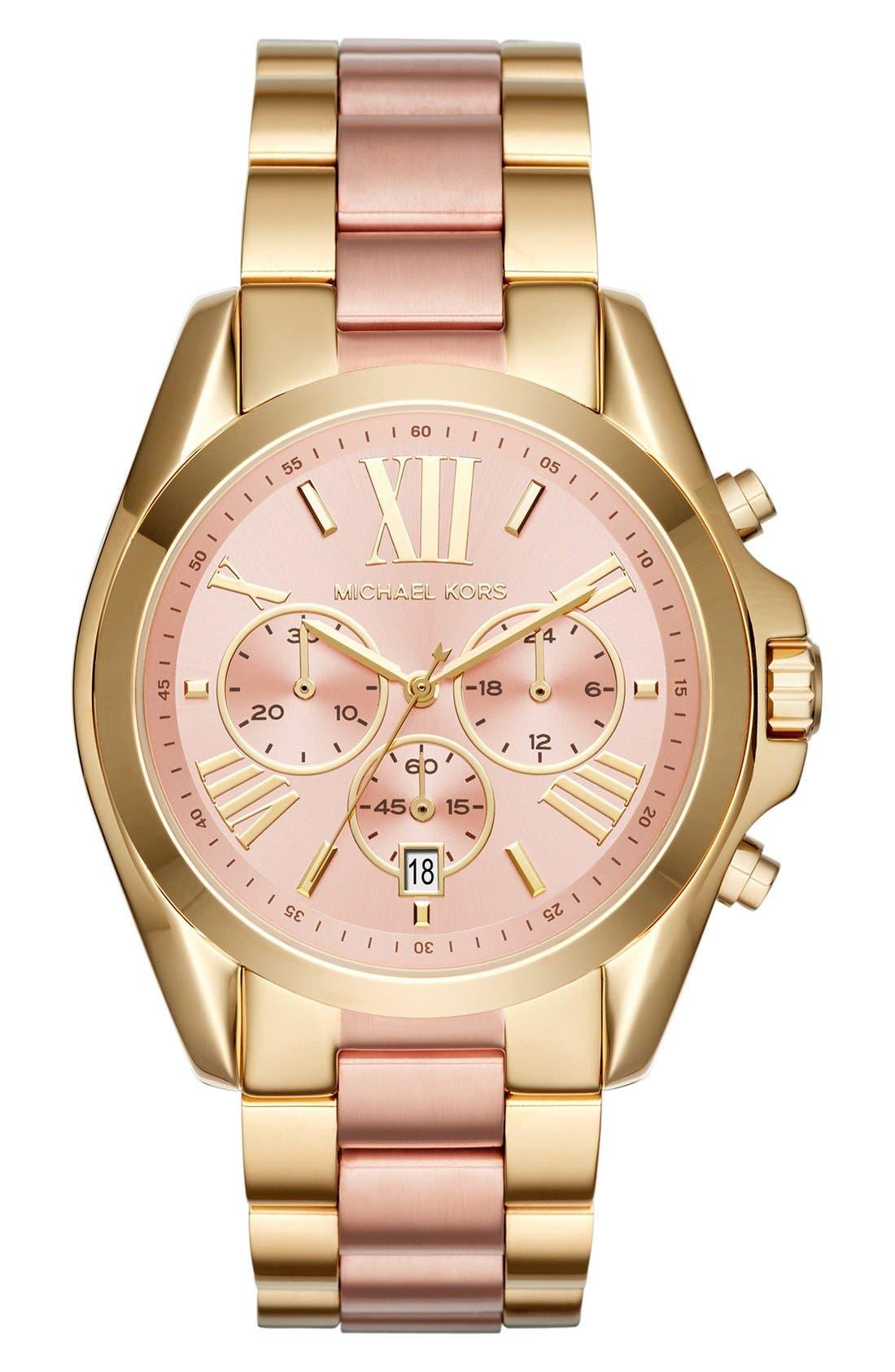Main Image - Michael Kors Bradshaw Chronograph Bracelet Watch, 43mm