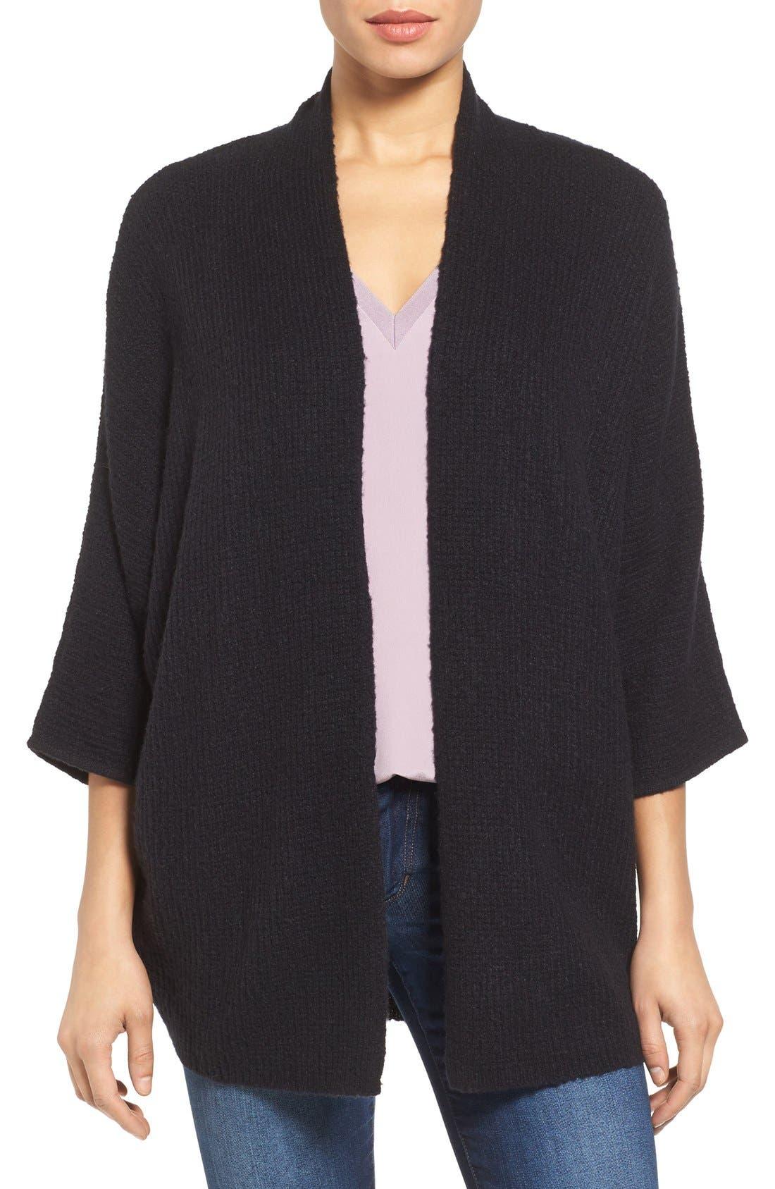 Alternate Image 1 Selected - Halogen® Open Front Knit Cardigan