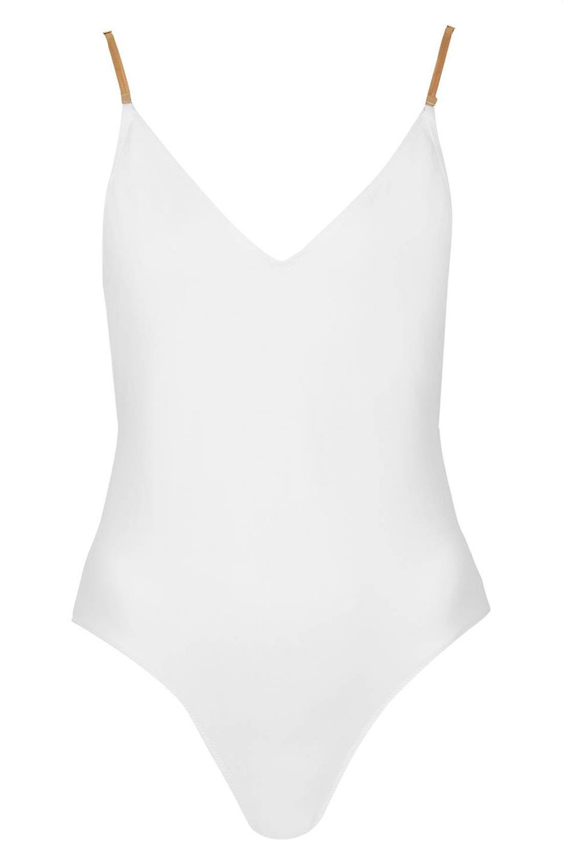 Alternate Image 3  - Topshop Chain Shoulders One-Piece Swimsuit