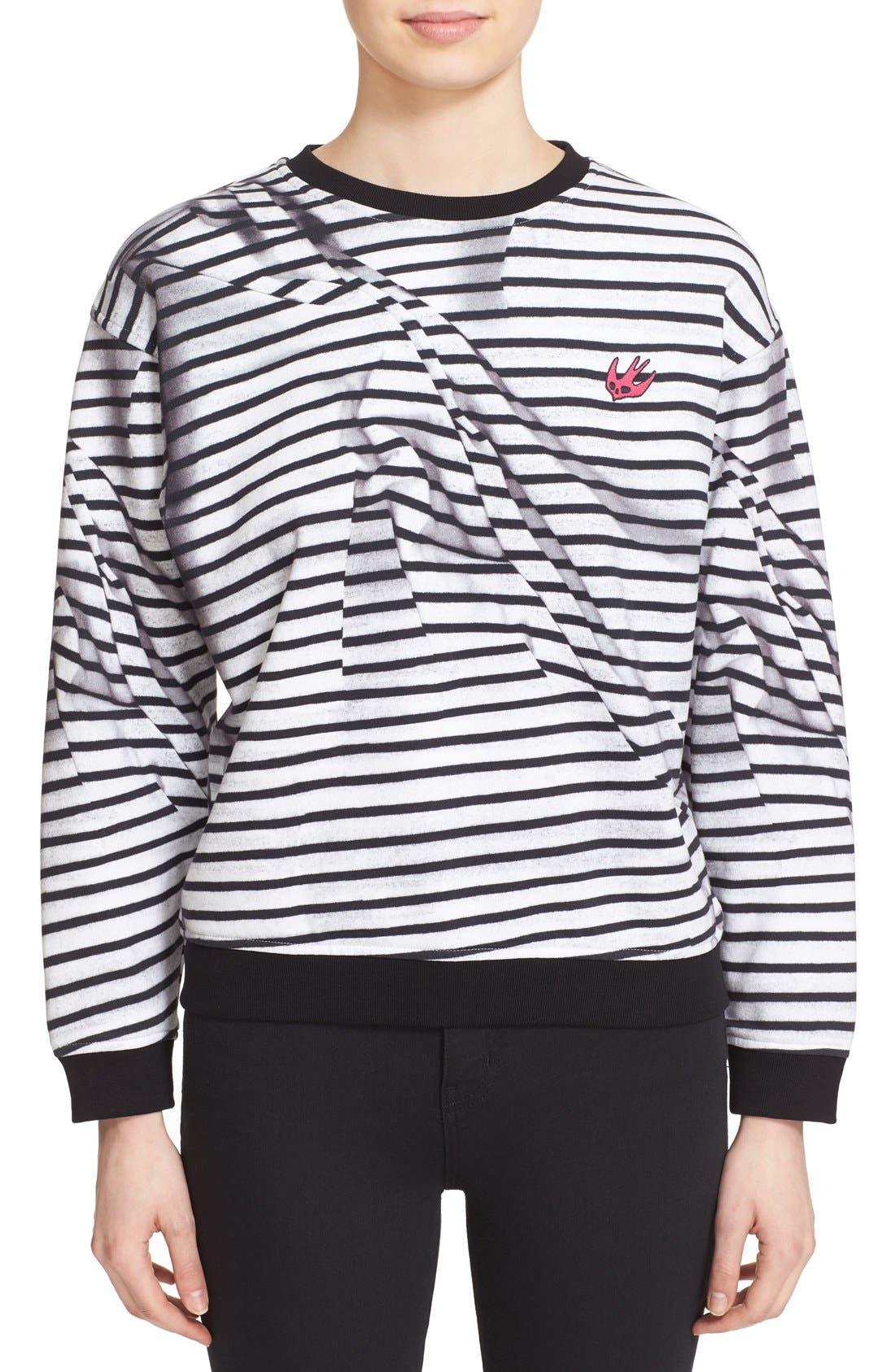 MCQ ALEXANDER MCQUEEN 'Broken Stripes' Sweatshirt