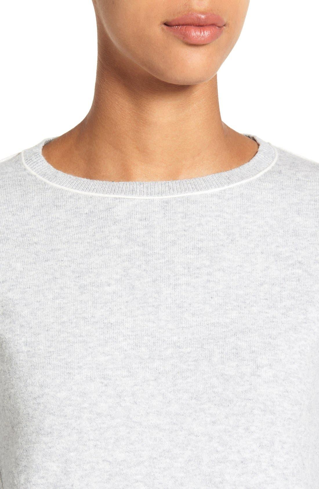 Alternate Image 4  - Caslon® Relaxed Long Sleeve Sweater (Regular & Petite)