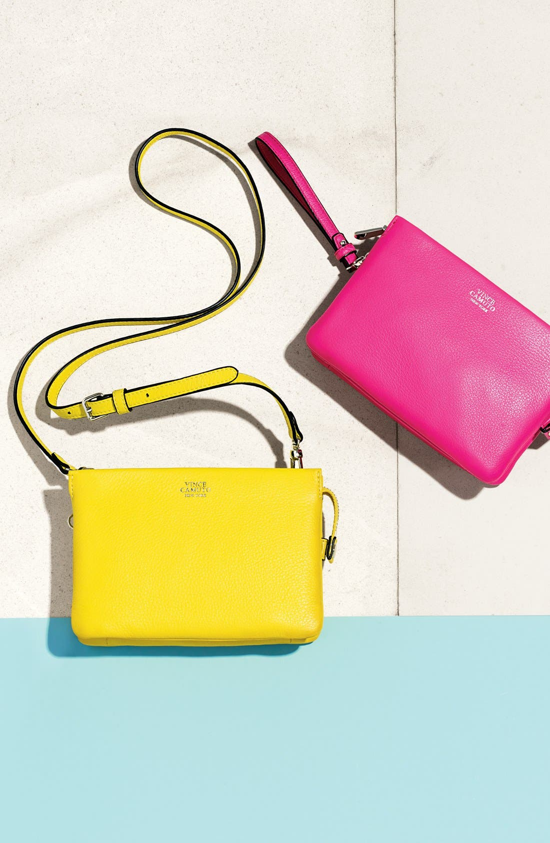 Alternate Image 6  - Vince Camuto 'Cami' Leather Crossbody Bag