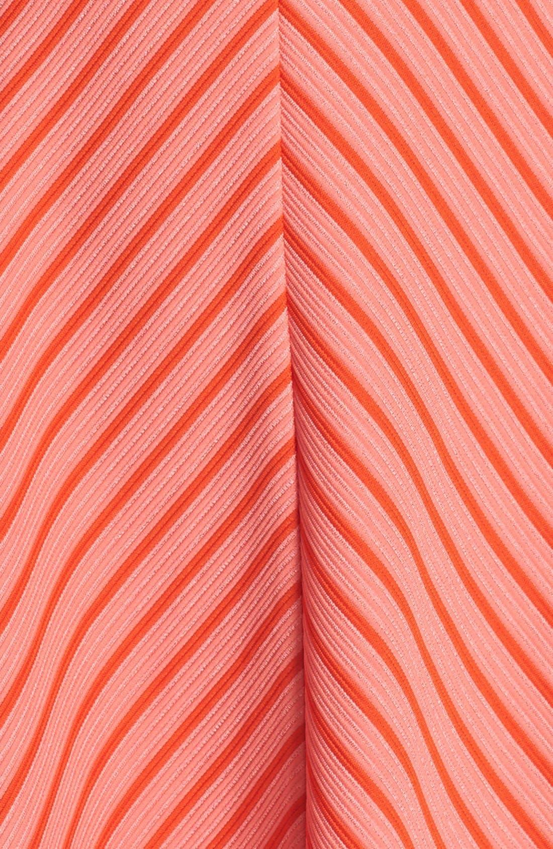Alternate Image 6  - Adrianna Papell Stripe Ottoman Knit Sundress (Petite)
