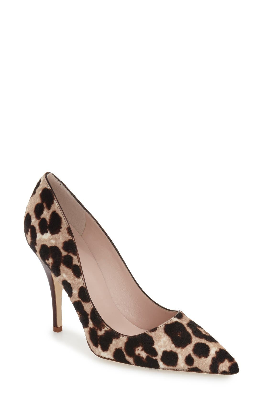 Alternate Image 1 Selected - kate spade new york 'licorice too' genuine calf hair pump (Women)