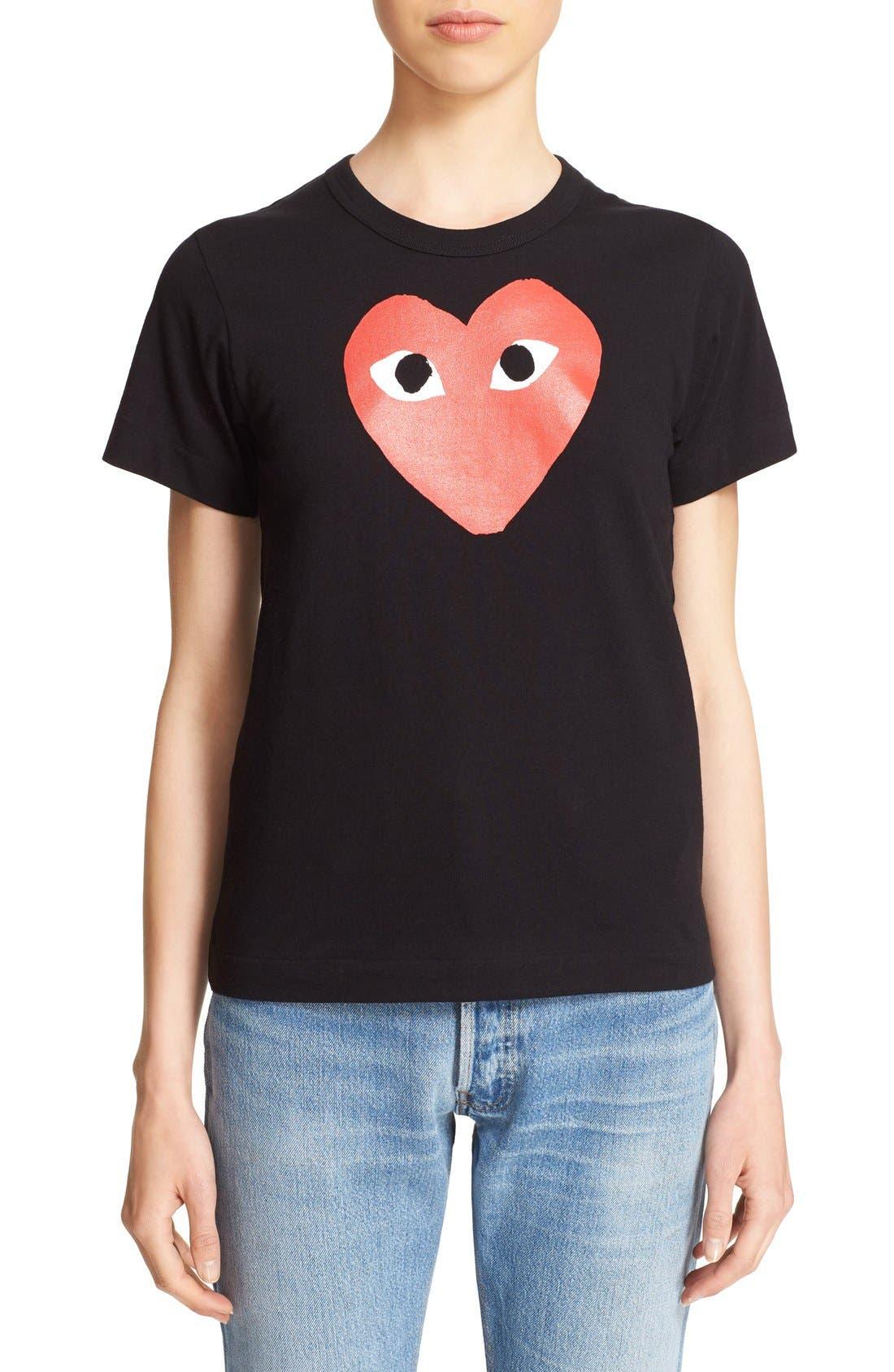Comme des Garçons 'Play' Heart Print T-Shirt