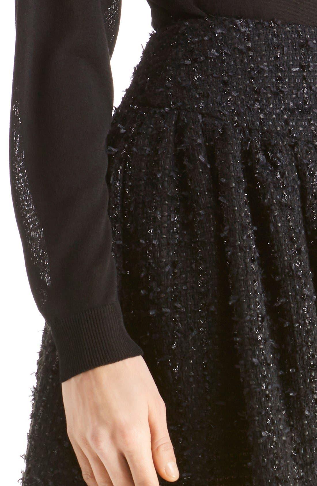Alternate Image 6  - Simone Rocha Gathered Tweed Miniskirt