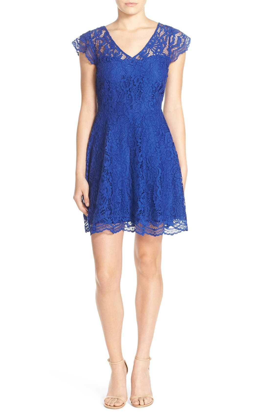 Alternate Image 4  - BB Dakota 'Reece' Lace Fit & Flare Dress