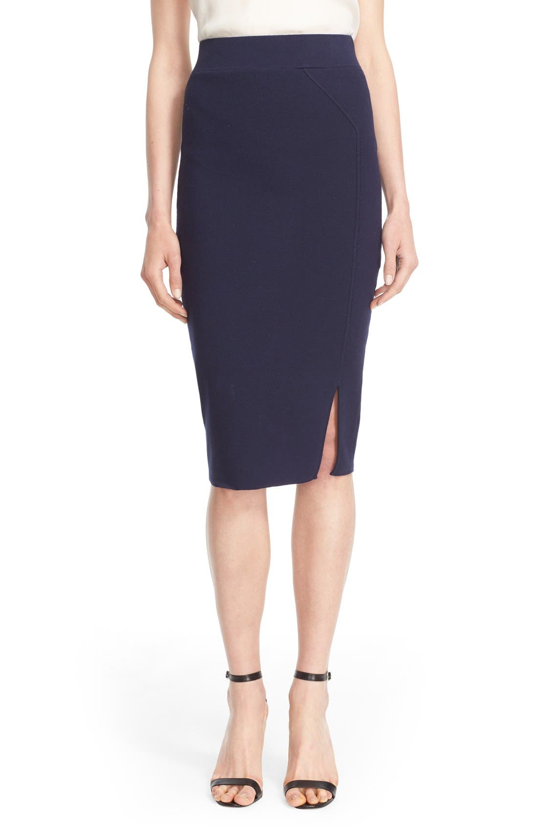 Main Image - Milly Structured Side Slit Skirt
