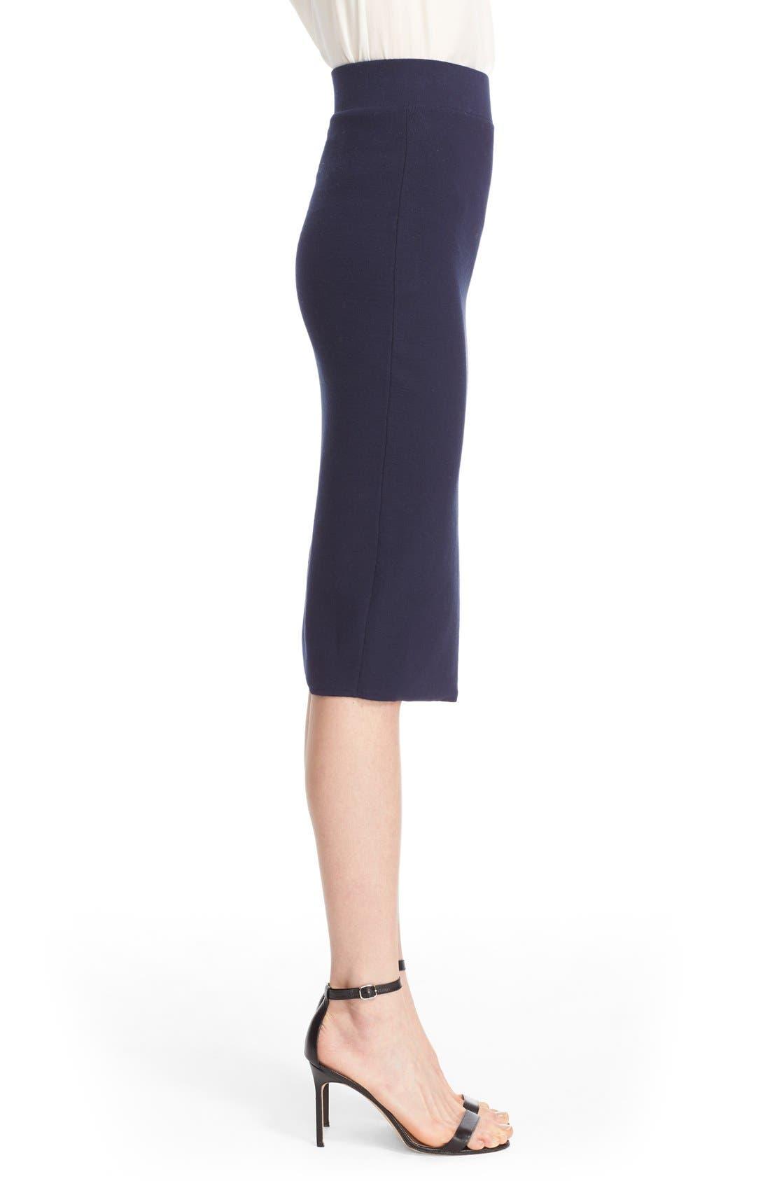 Alternate Image 3  - Milly Structured Side Slit Skirt
