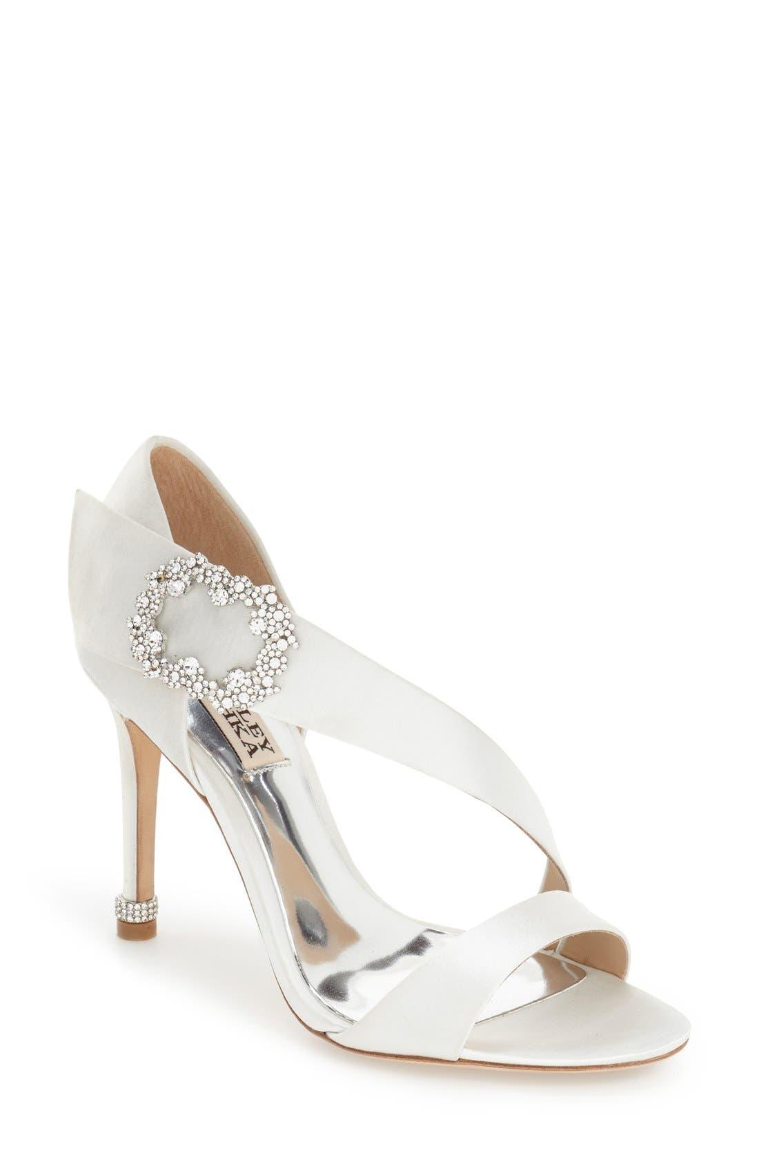 Alternate Image 1 Selected - Badgley Mischka 'Night' Crystal Embellished Evening Sandal (Women)