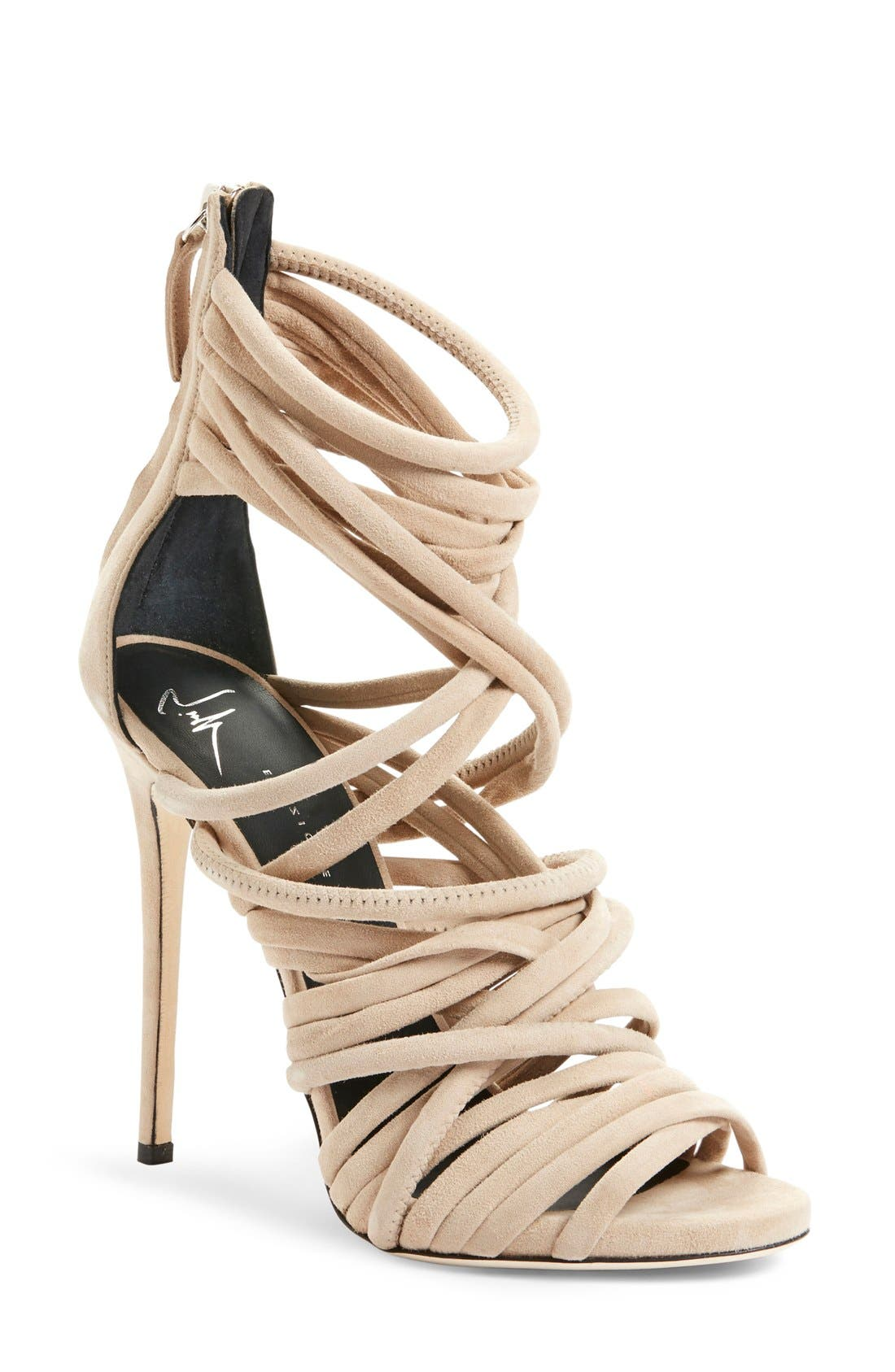 Alternate Image 1 Selected - Giuseppe Zanotti 'A-Line' Strappy Cage Sandal (Women)