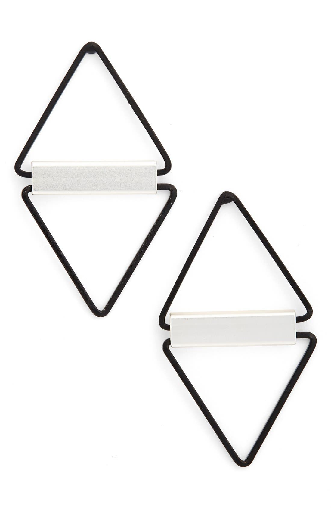 Alternate Image 1 Selected - Cara Open Triangle Earrings