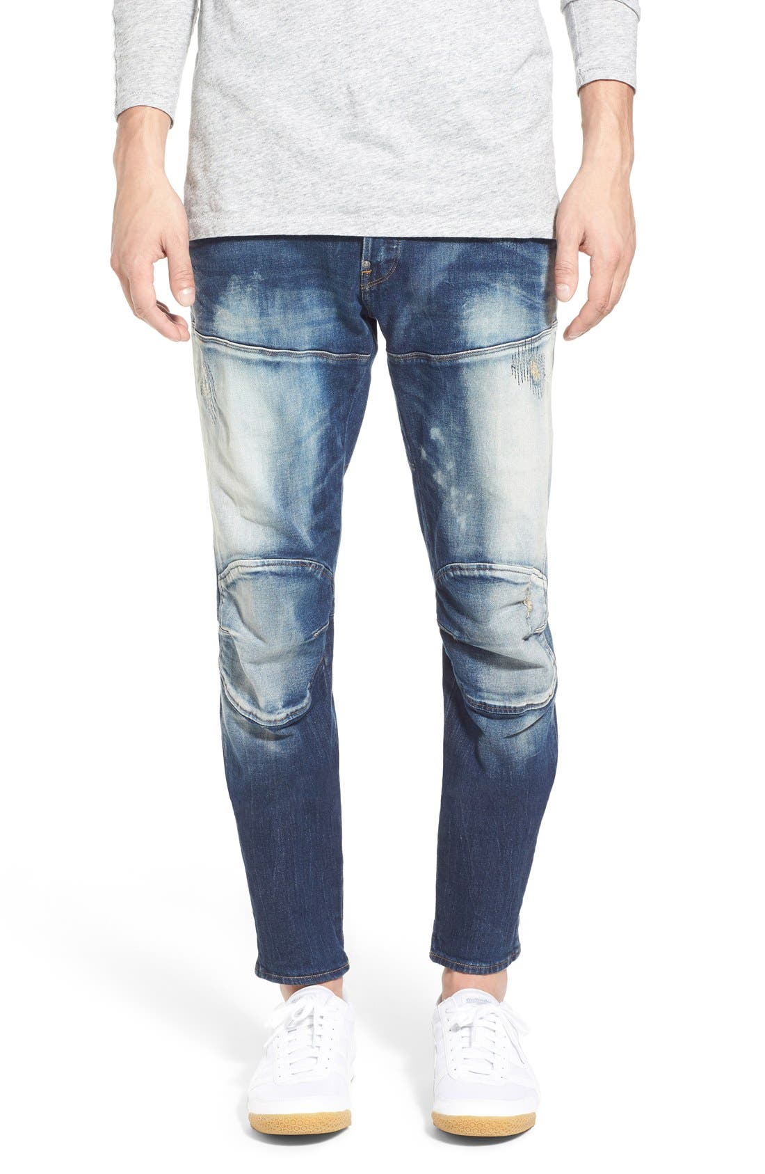 Alternate Image 1 Selected - G-Star Raw '5620 Type C' Skinny Fit Moto Jeans (Moon Wash Restored)