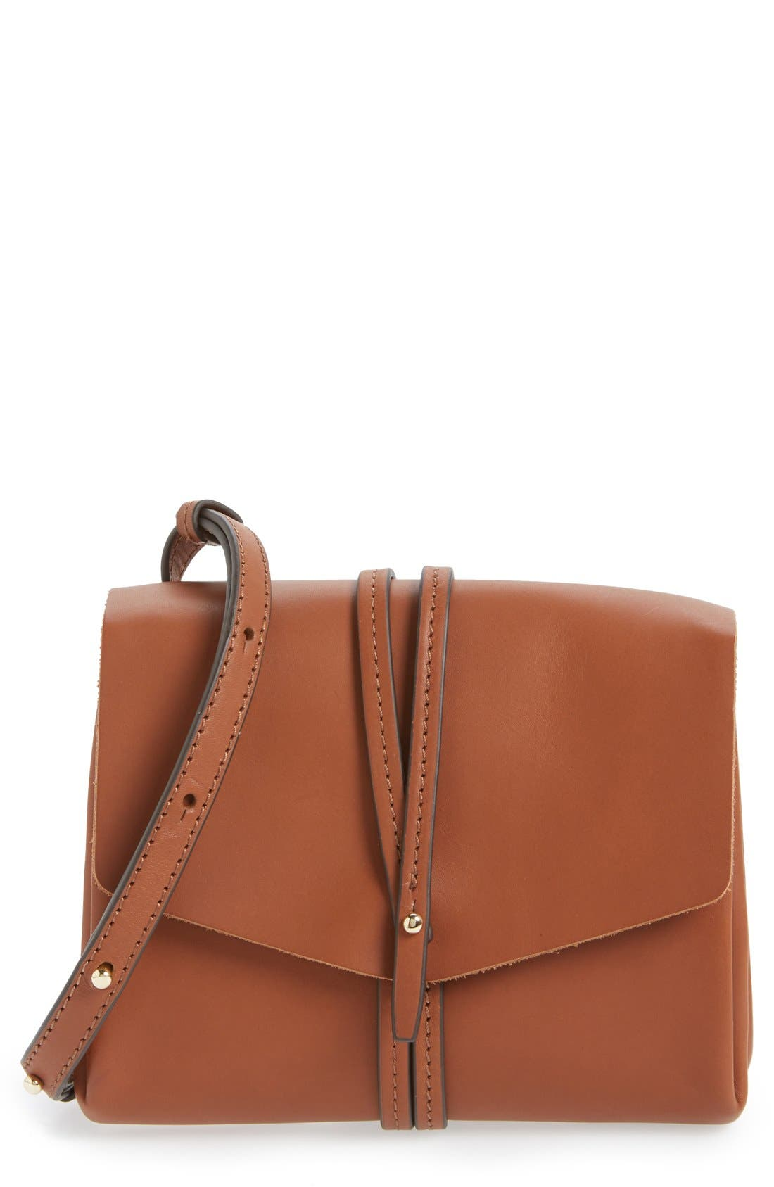Alternate Image 1 Selected - Vince Camuto 'Tuck' Leather Crossbody Bag