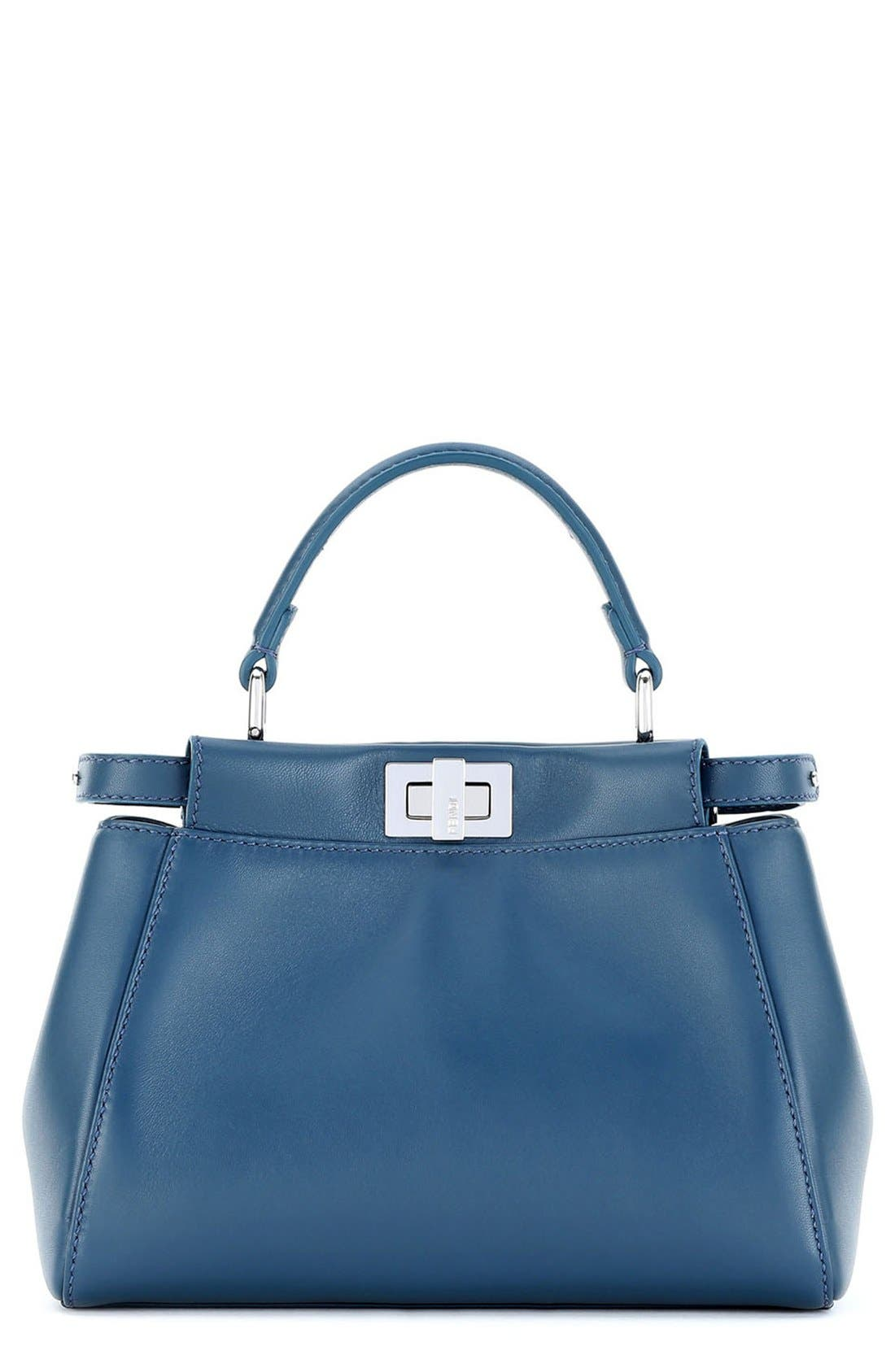 Fendi 'Mini Peekaboo' Nappa Leather Bag