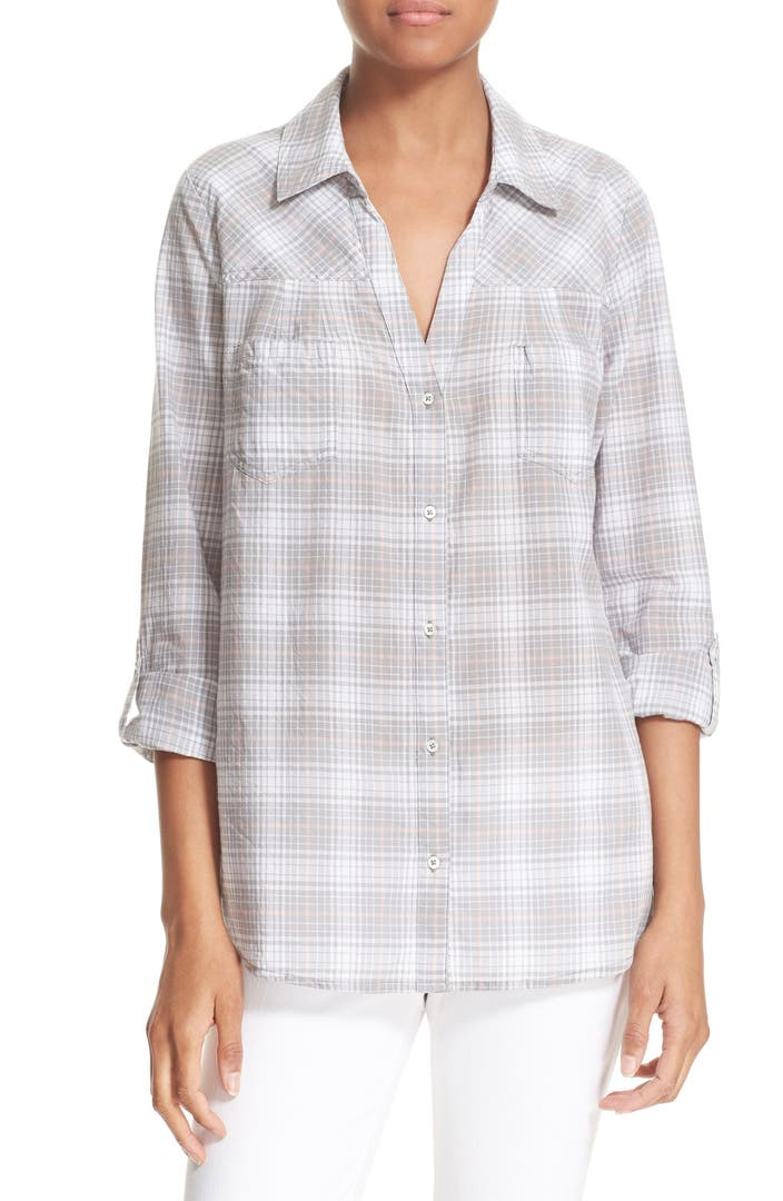 Soft joie 39 brady 39 plaid shirt nordstrom for Soft joie plaid shirt