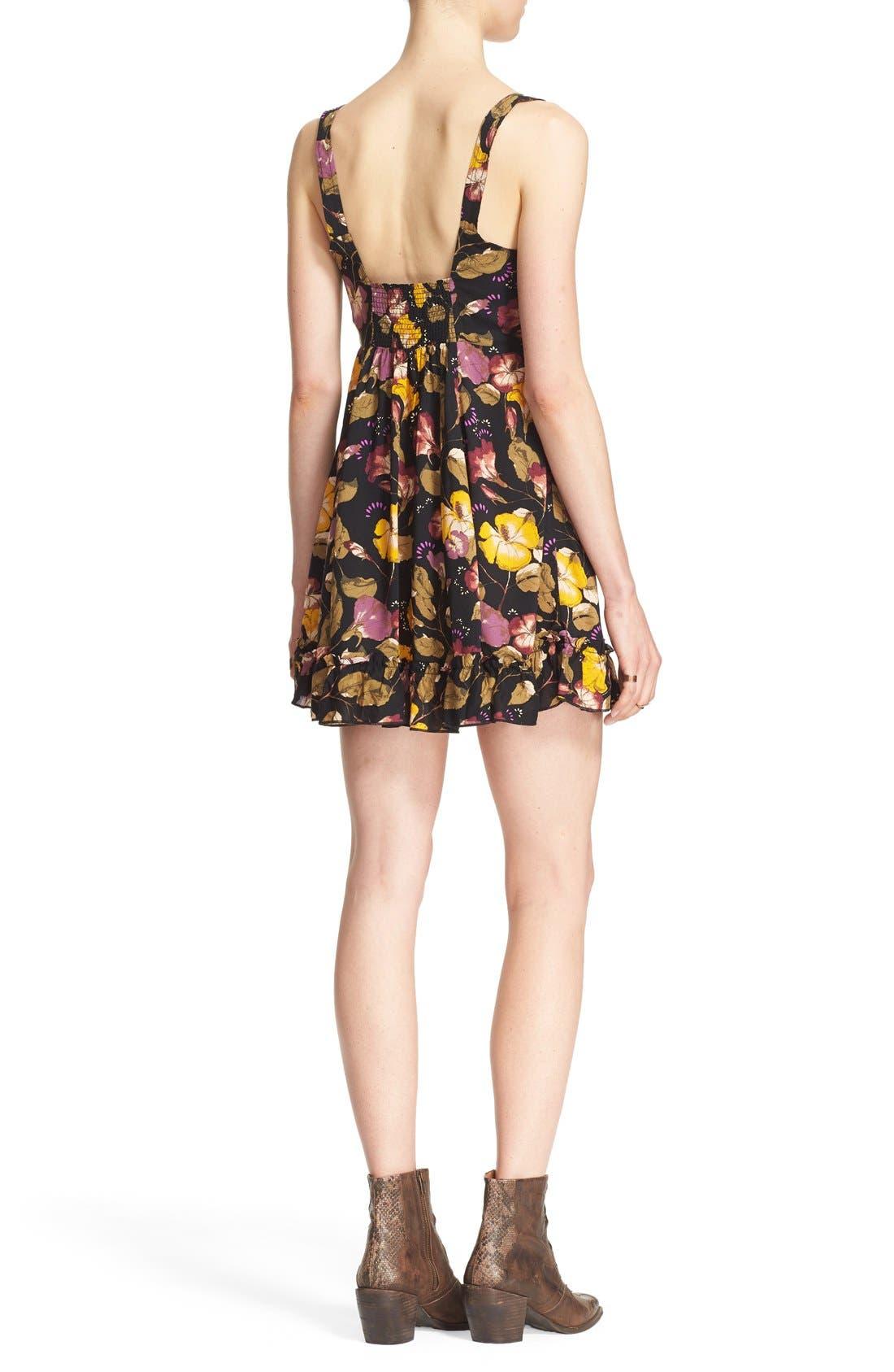 Alternate Image 2  - Free People 'Lattice Lovers' Lace-Up Minidress