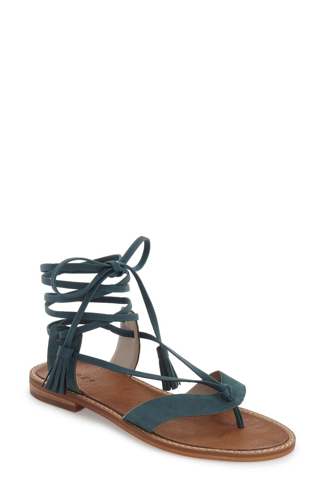 Main Image - Hinge 'Avery' Wraparound Strap Sandal (Women)