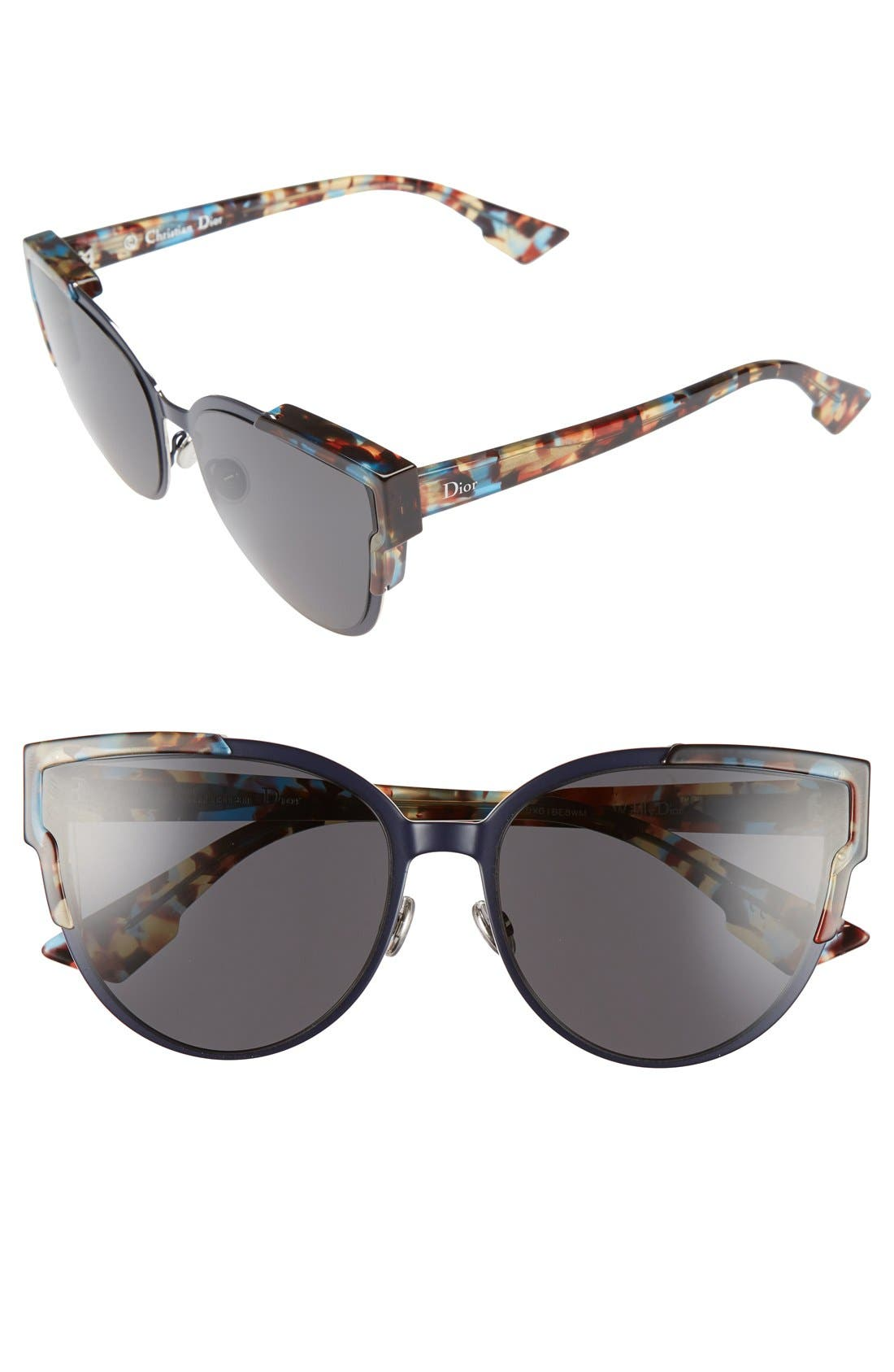 Wildly Dior 60mm Cat Eye Sunglasses