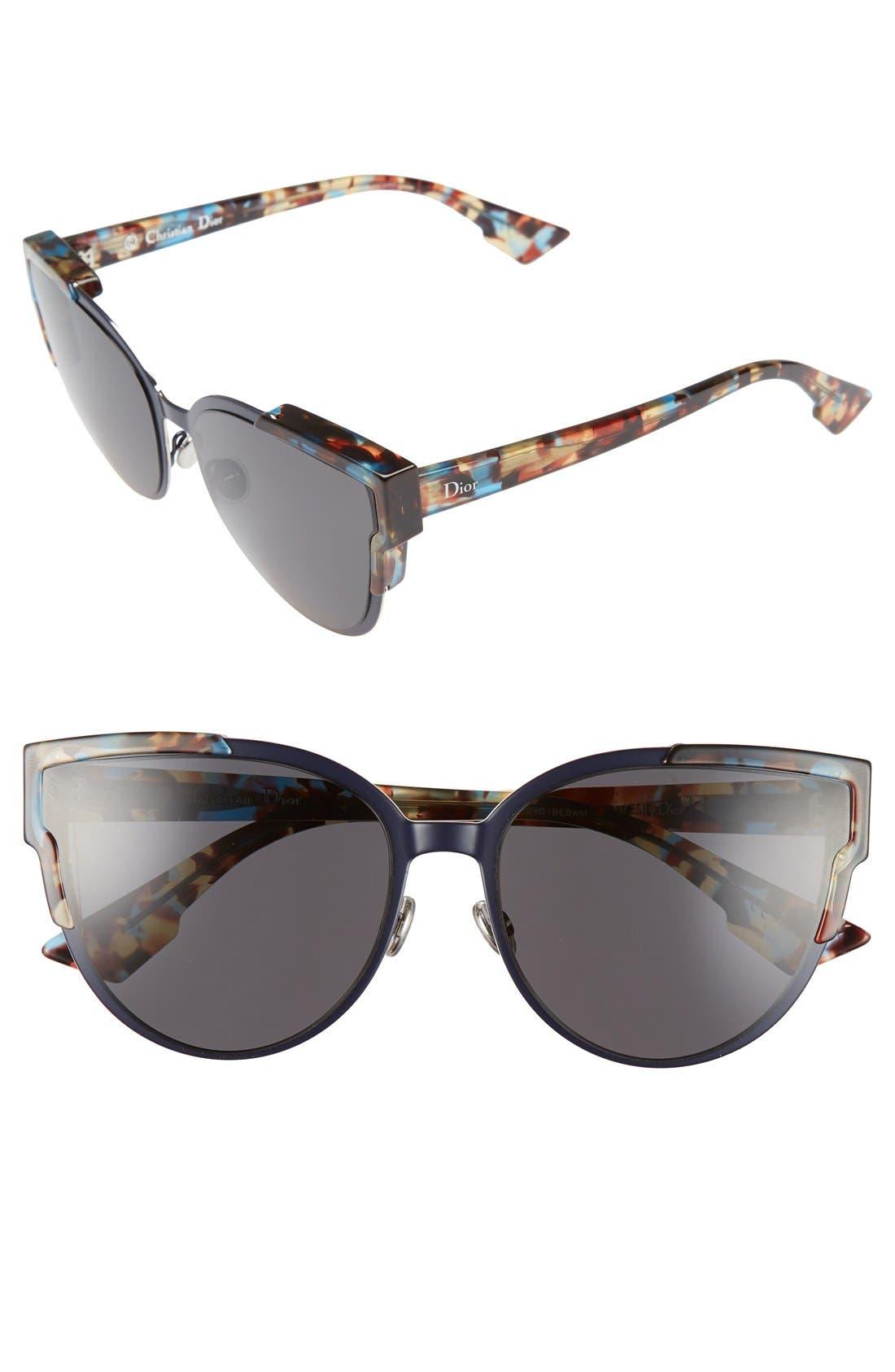 Wildly Dior 60mm Cat Eye Sunglasses