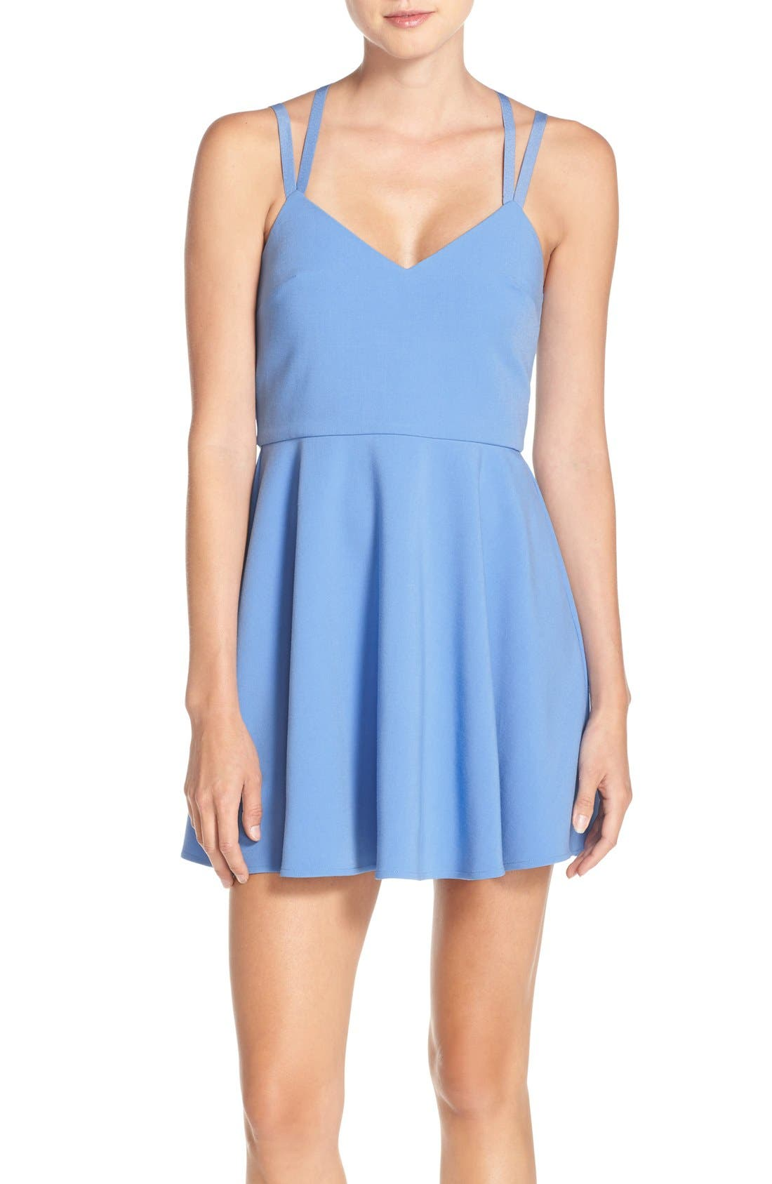 Main Image - French Connection 'Whisper' Strappy Skater Dress