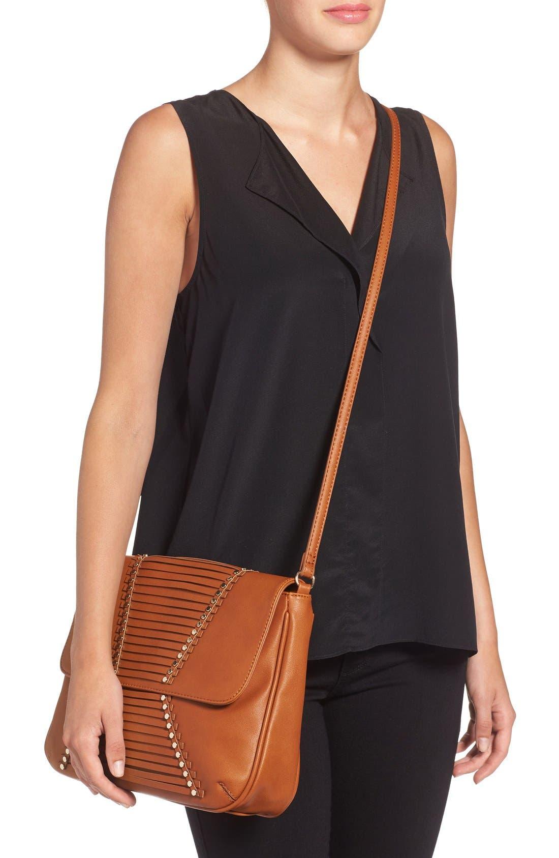 Alternate Image 2  - Emperia 'Larissa' Studded Flap Faux Leather Crossbody Bag