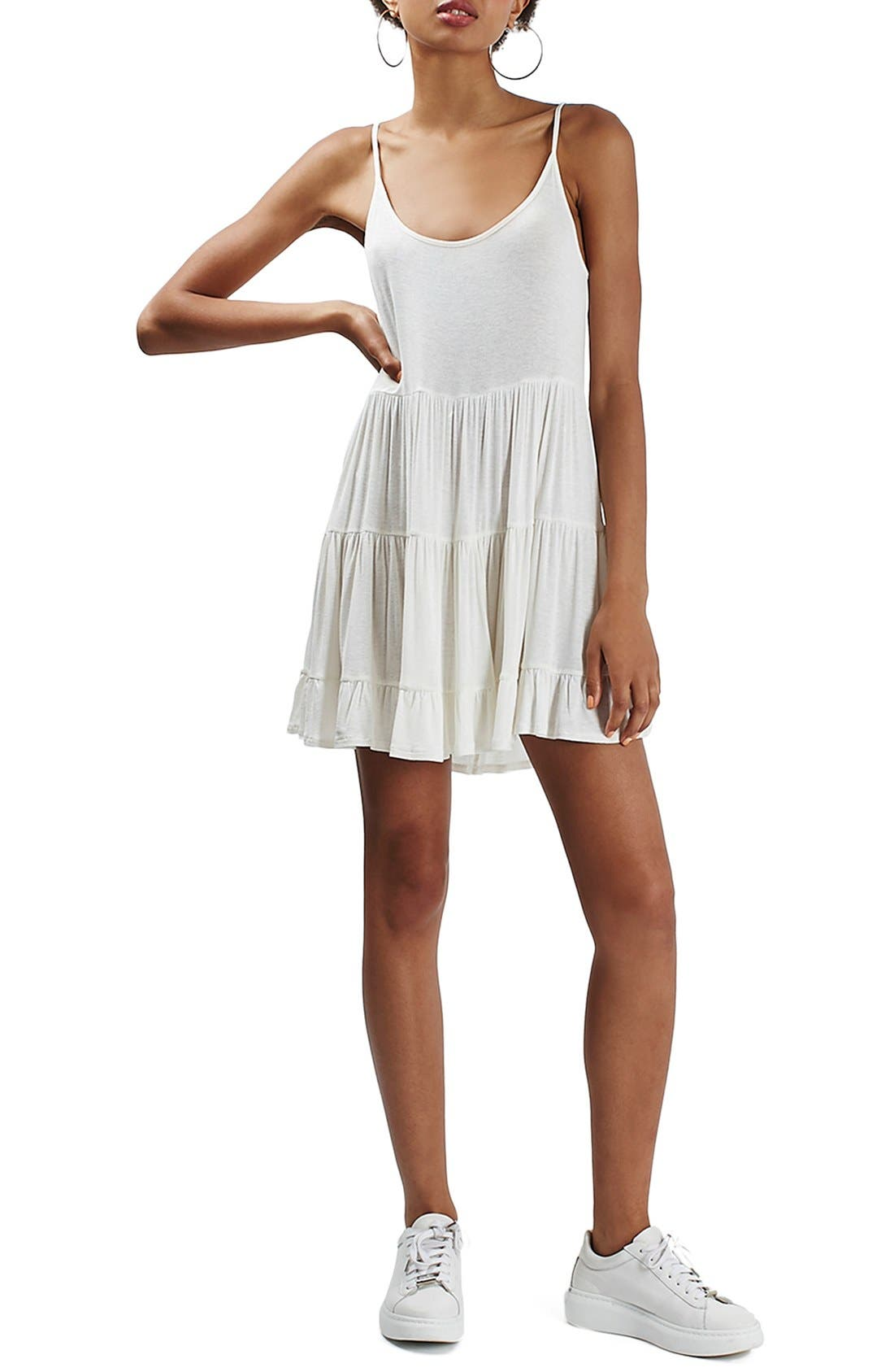 Main Image - Topshop Tiered Open Back Sundress