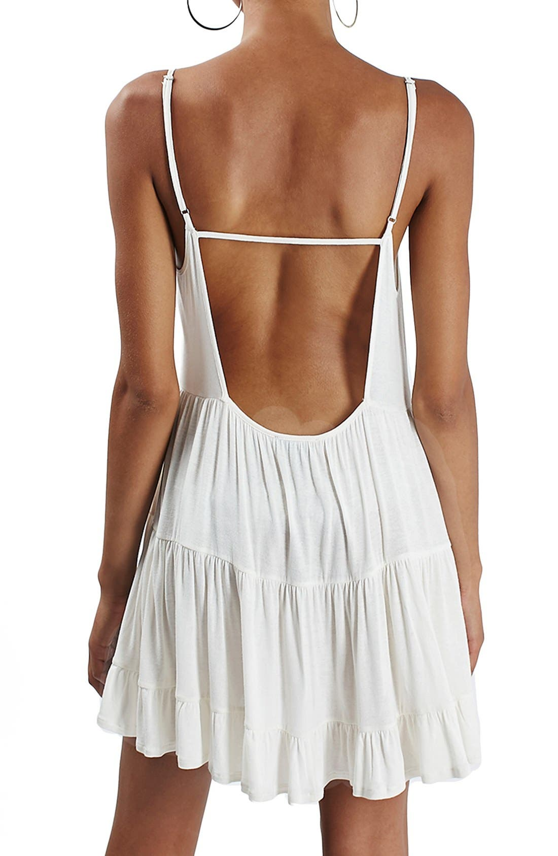 Alternate Image 2  - Topshop Tiered Open Back Sundress